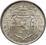 9 Piastres - George V – reverse