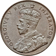 ¼ Piastre - George V – obverse