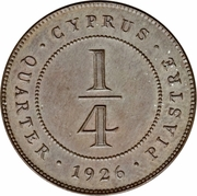 ¼ Piastre - George V – reverse