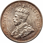 45 Piastres - George V (Anniversary of Cyprus) – obverse