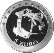 5 Euro (The accession of Cyprus to the EMU) -  reverse