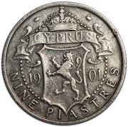 9 Piastres - Victoria – reverse