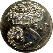 500 Mils (FAO - Silver proof issue) – reverse
