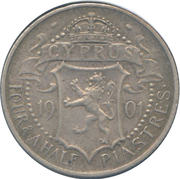 4½ Piastres - Victoria – reverse