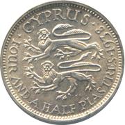 4½ Piastres - George VI – reverse