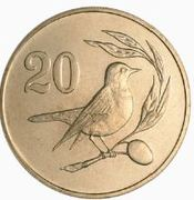 20 Cents (Solid value number) -  reverse