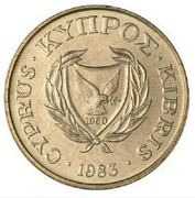 10 Cents (Type 1 coat of arms; solid value number) -  obverse