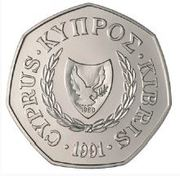 50 Cents (Abduction of Europa - Copper-Nickel) -  obverse