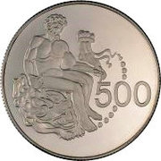 500 Mills (Hercules Coin - Silver proof issue) – reverse
