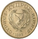2 Cents (Type 1 coat of arms; solid value number) -  obverse