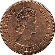 3 Mils - Elizabeth II (1st portrait) -  obverse