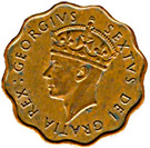 1 Piastre - George VI – obverse