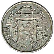 18 Piastres - Edward VII – reverse