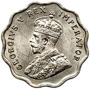 ½ Piastre - George V – obverse
