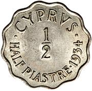 ½ Piastre - George V – reverse