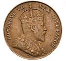 ½ Piastre - Edward VII – obverse