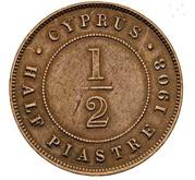½ Piastre - Edward VII – reverse