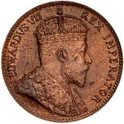 ¼ Piastre - Edward VII – obverse