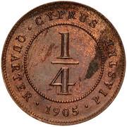 ¼ Piastre - Edward VII – reverse