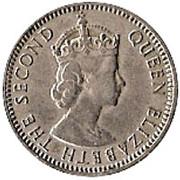 25 Mils - Elizabeth II (1st portrait) -  obverse