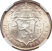 4½ Piastres - George V – reverse