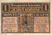 1 Krone (Stadt Teschen) – obverse