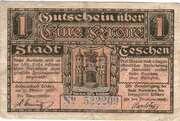 1 Krone (Stadt Teschen) – reverse