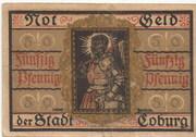 50 Pfennig (Coburg) – reverse
