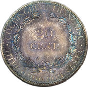 20 Centimes – reverse