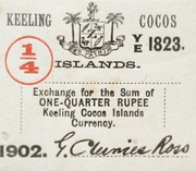1/4 Rupee – obverse