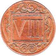 8 Pfennig – reverse