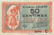 50 Centimes - Colmar – obverse