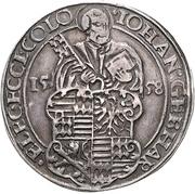 1 Thaler - Johann Gebhard von Mansfeld – obverse