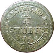 ¼ Stüber - Clemens August -  reverse