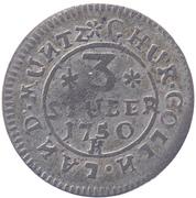 3 Stüber - Clemens August – reverse