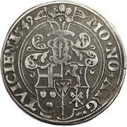 1 Thaler - Adolph von Schauenburg – reverse