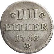 4 Heller (Silver pattern strike) – reverse