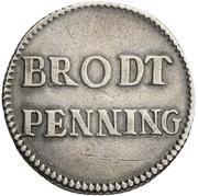 1 Brodtpfennig (Silver pattern strike) – reverse