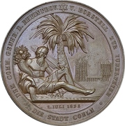Medal - 25th anniversary of military sucess at Dennewitz of Prussian General Ludwig von Borstell (Cologne) – obverse