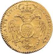 1 Ducat  - Karl VI. – obverse