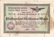 500,000,000 Mark (Reichsbahndirektion) -  obverse