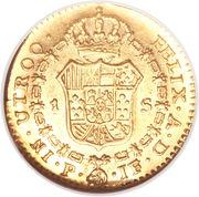 1 Escudo - Fernando VII (portrait of Carlos IV) – reverse