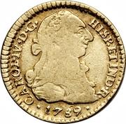 1 Escudo - Carlos IV (portrait of Carlos III) – obverse