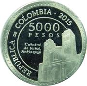5000 Pesos (Laura Montoya) – obverse