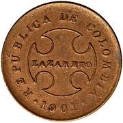 20 Centavos (Leprosarium Coinage) – reverse