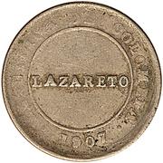1 Peso Papel Moneda (Leprosarium Coinage) – obverse