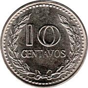 10 Centavos (continuous legend; small letters) -  reverse