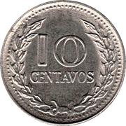 10 Centavos (divided legend) -  reverse