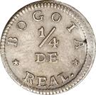 """¼ Real (""""Cuartillo"""", Republic of Nueva Granada) – reverse"""