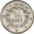 ½ Real (Republic of Nueva Granada) – reverse